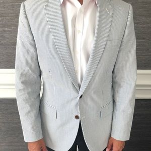 Other - J Crew Seersucker sport coat 40R